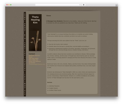 Bamboo WordPress theme - thetahealingkim.com