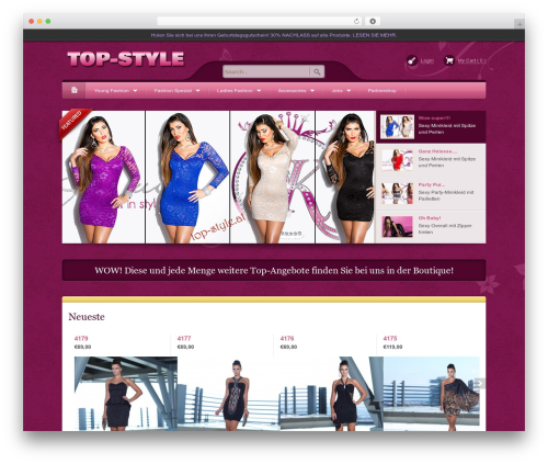Bellissima WordPress ecommerce theme - top-style.at