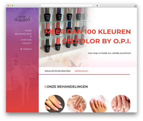 Best WordPress template BeautySpot - thenailbeautique.com