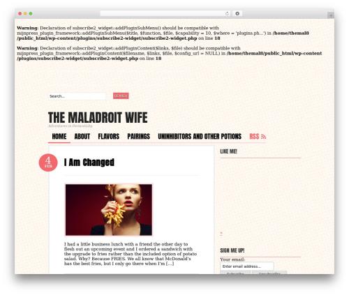 Bueno theme WordPress - themaladroitwife.com