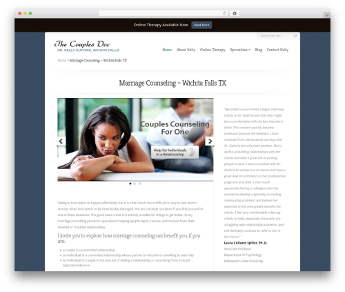 Chameleon WordPress theme design - thecouplesdoc.com