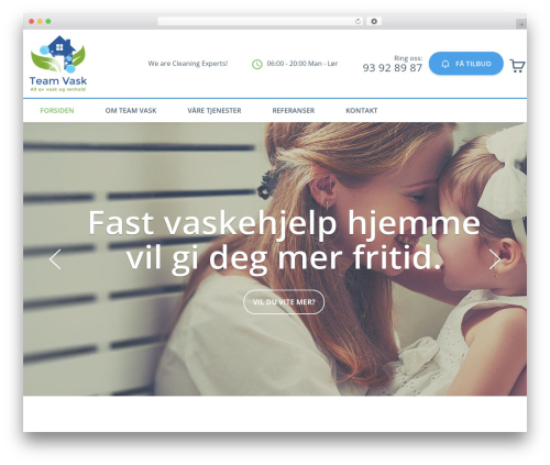 Cleaning Services WordPress theme - teamvask.com
