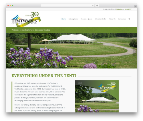 Enfold best WordPress theme - tentwares.com