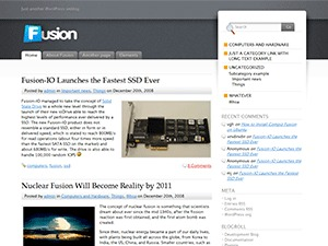 Fusion WordPress page template