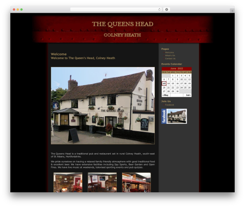 Halloween free WordPress theme - thequeensheadcolneyheath.co.uk