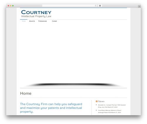 Klasik company WordPress theme - thecourtneyfirm.com