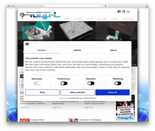 Nano2 best WordPress template - tipografianegri.it