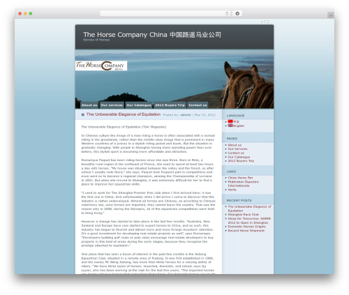 Ocean Mist premium WordPress theme - thc-china.net