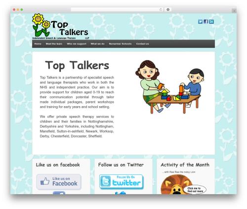Responsive best free WordPress theme - toptalkers.co.uk