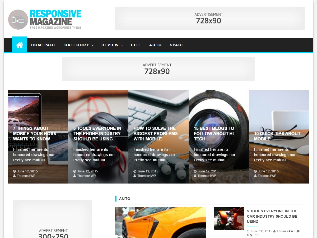 Responsive Magazine theme free download
