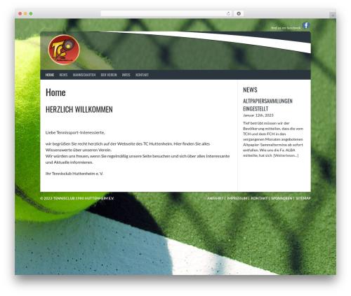 Rookie theme WordPress - tc-huttenheim.de