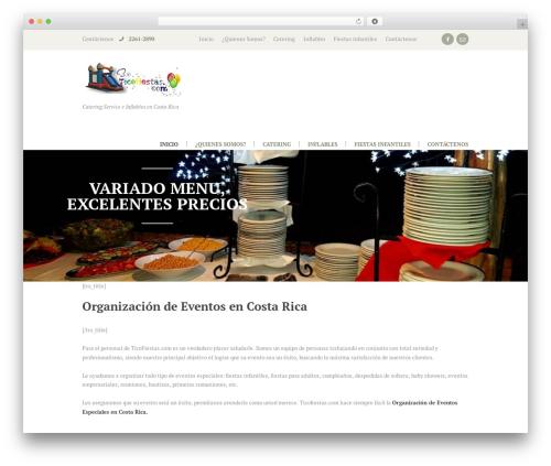 Royal Event WordPress website template - ticofiestas.com