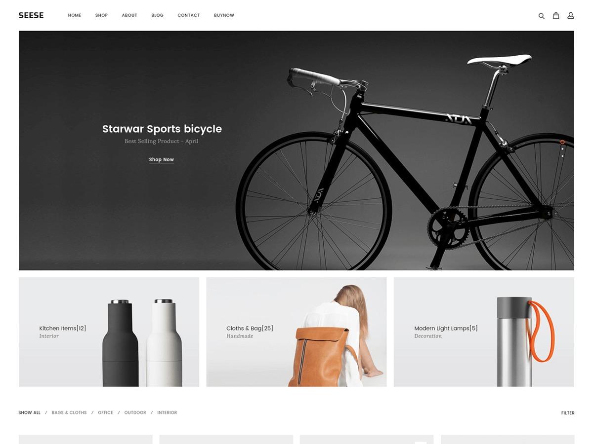 Seese WordPress shopping theme
