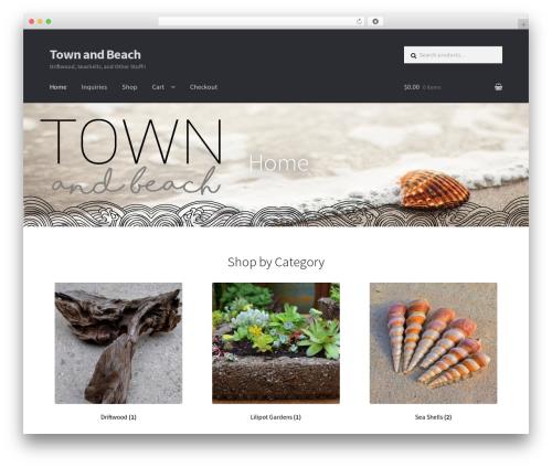Storefront best WordPress template - townandbeach.com