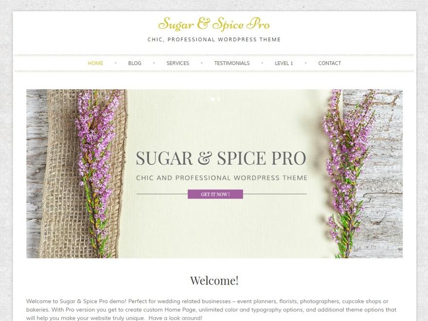 Sugar And Spice Pro photography WordPress theme