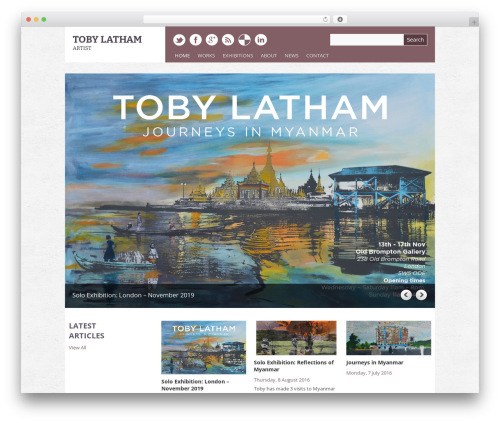 Template WordPress Yasmin - tobylatham.co.uk