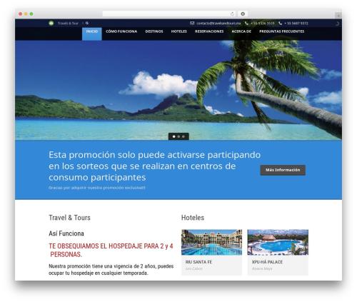 Tour Package WordPress travel theme - travelsandtours.mx