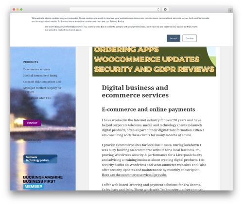 Twenty Fifteen free WordPress theme - thinkablecloud.co.uk