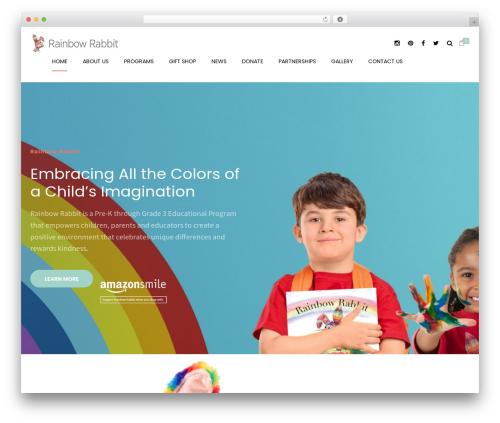 WordPress template Shopscape - therainbowrabbit.com