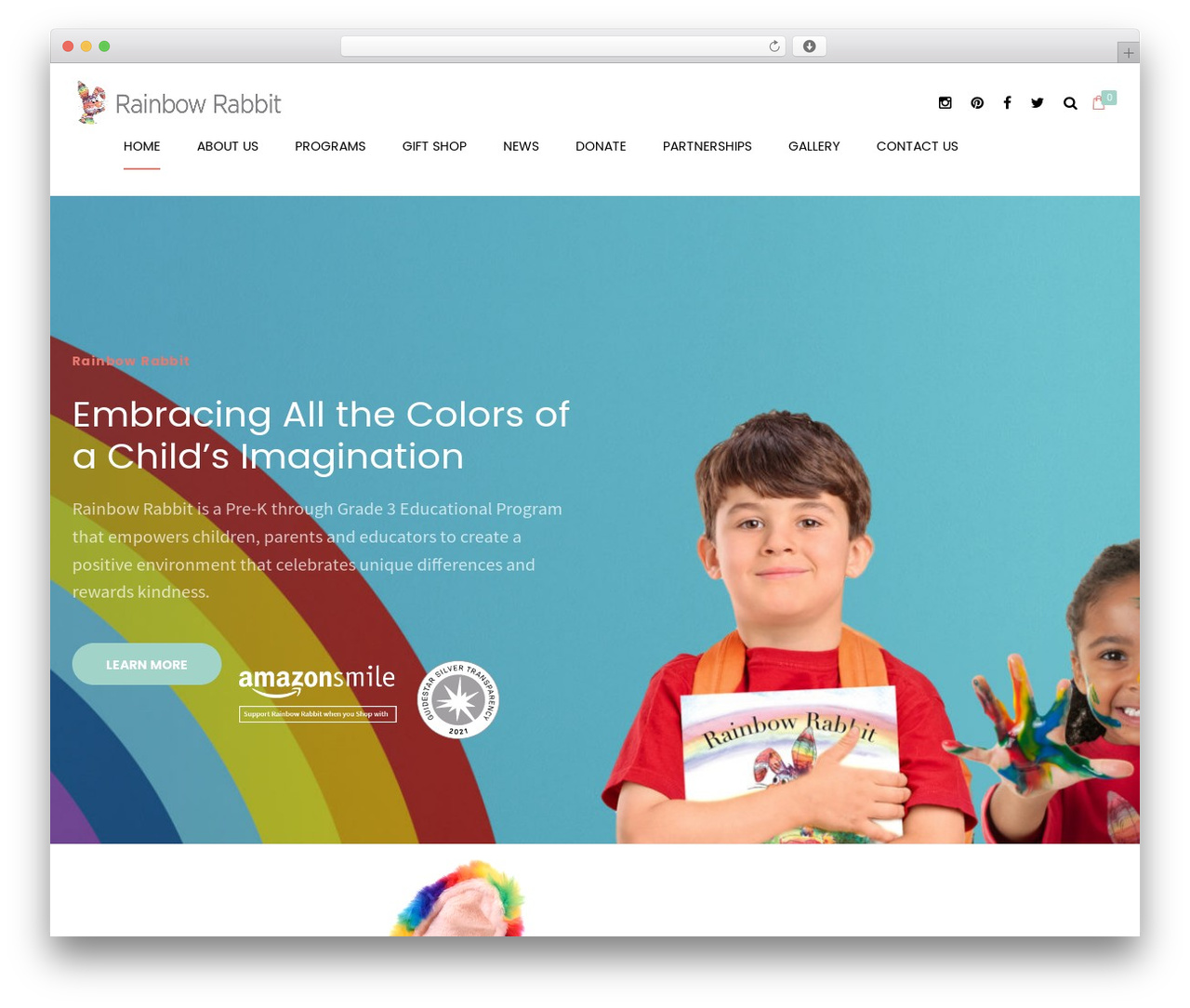 WordPress template Shopscape - therainbowrabbit.com