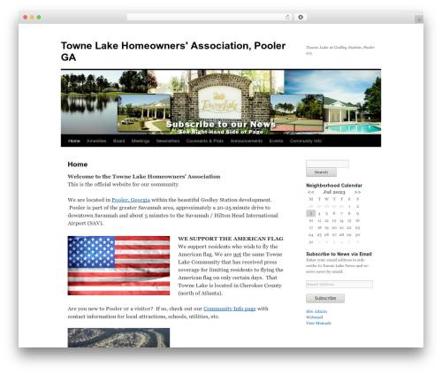 WordPress template Twenty Ten - townelakehoa.org