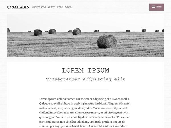 WordPress theme Sahagin