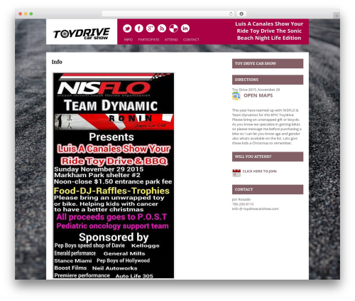 WordPress theme Yasmin - toydrivecarshow.com