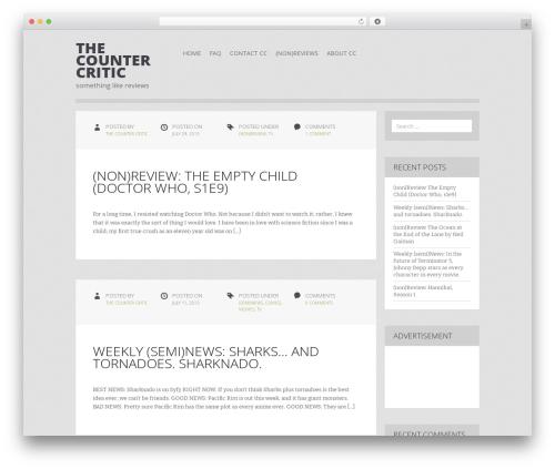 Zoren best WordPress template - thecountercritic.com/blog