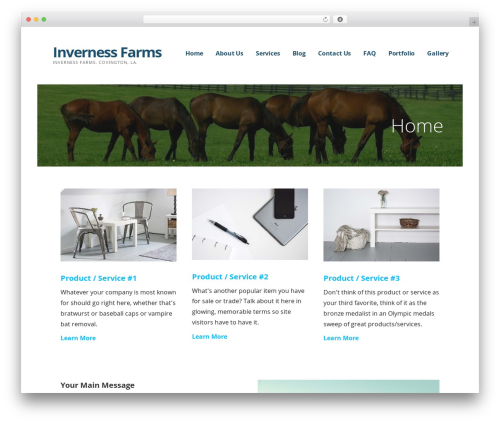 Ascension best WordPress theme - invernessfarms.net