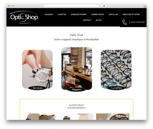 Auxane Opticiens WP theme - opticshop-montpellier.fr