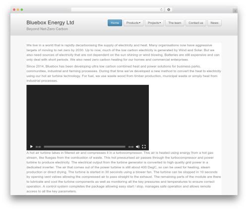 Business Pro 4 WordPress theme - bluebox.energy