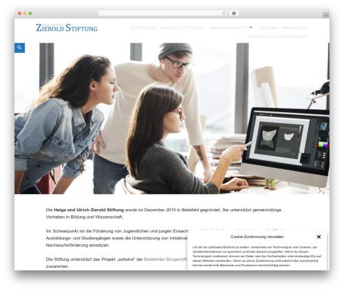 Maisha best WordPress template - zierold-stiftung.de