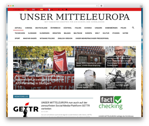 Newspaper best WordPress magazine theme - unser-mitteleuropa.com