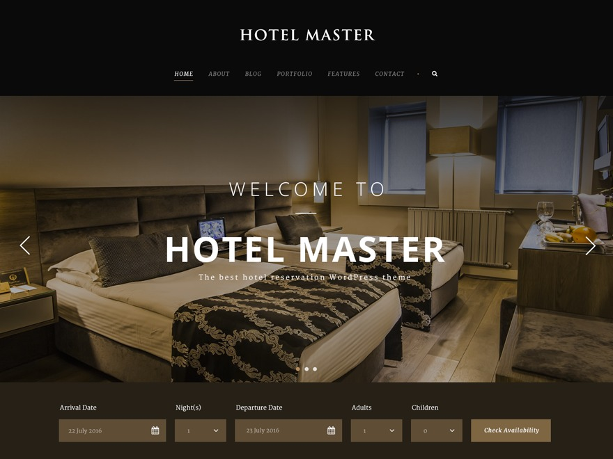 Oasis Master best hotel WordPress theme