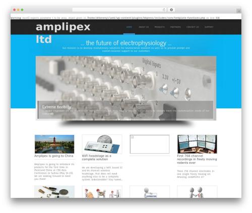 Simplicity Lite free WP theme - amplipex.com