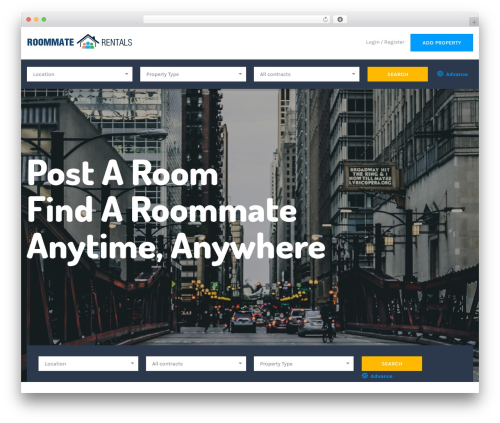 Theme WordPress ApusHome - roommate.rentals