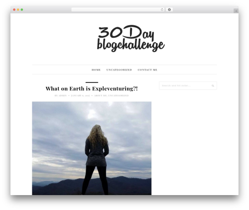 WordPress template 30 Day Blog Challenge - expleventuring.com