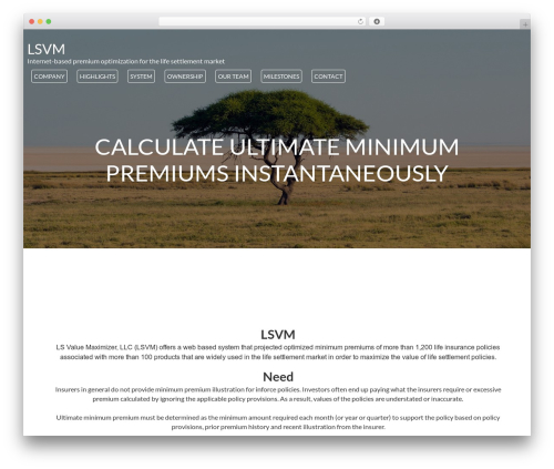 WordPress template MinimalZerif - lsvm.org