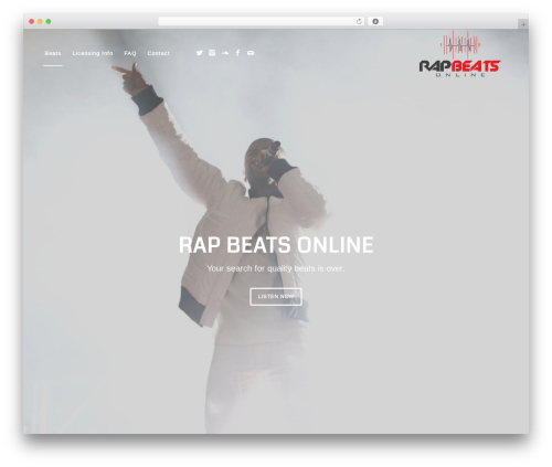 Best WordPress theme Enfold - rapbeatsonline.com