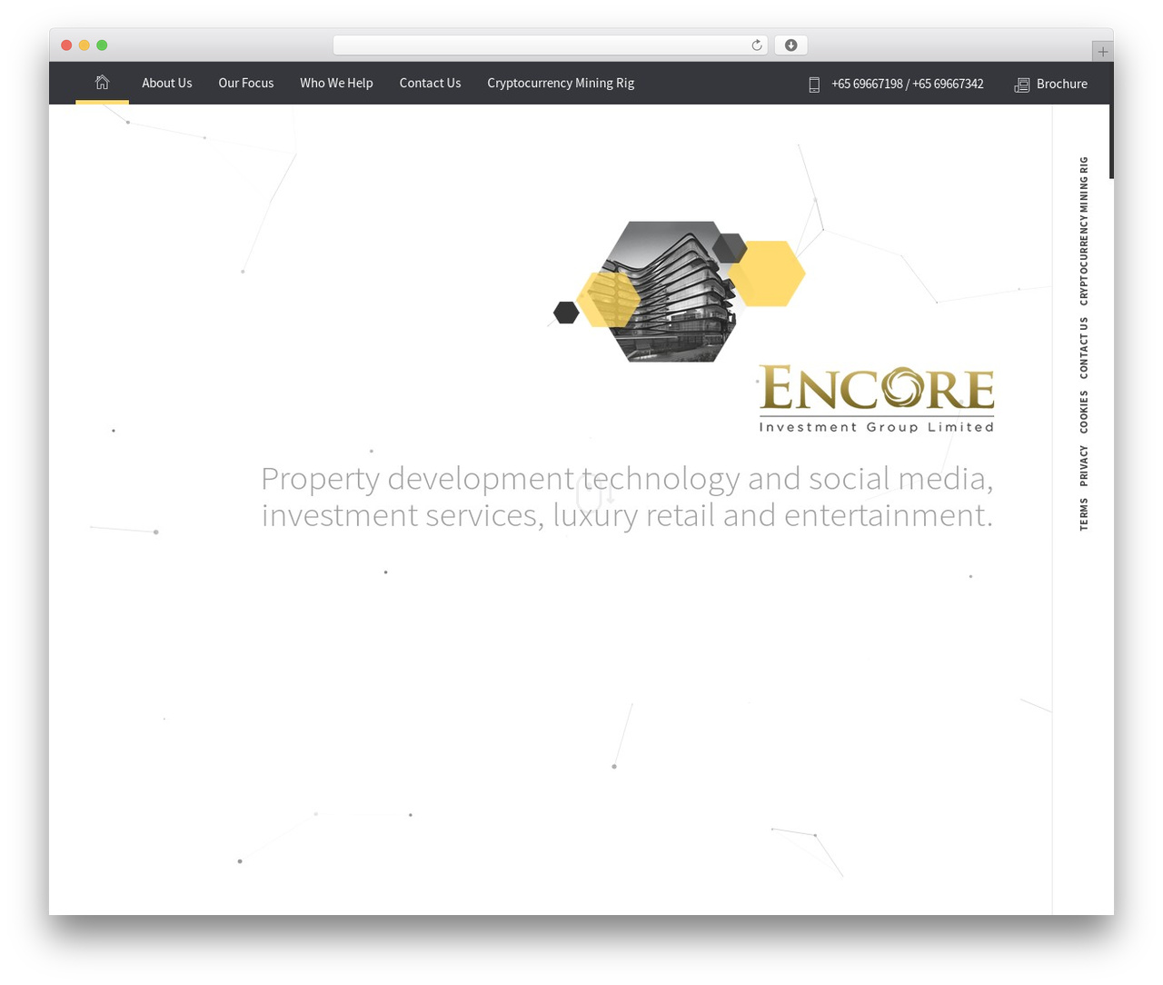 Encore WordPress page template - eig.limited