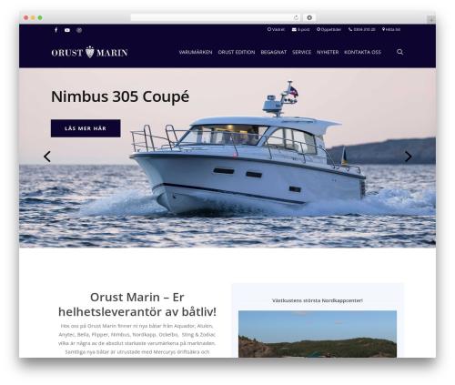 Salient WordPress website template - orustmarin.se