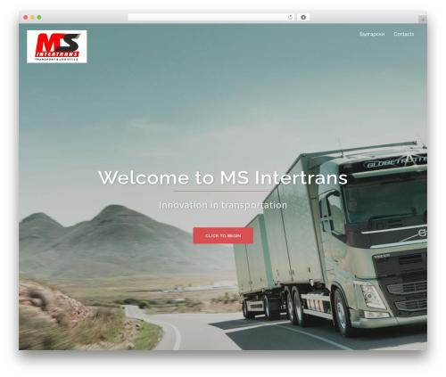 Sydney company WordPress theme - msintertrans.com