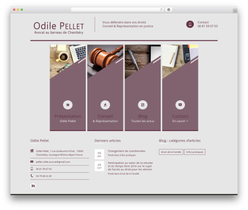 Themis - Law Lawyer Business WordPress Theme WP template - odile-pellet-avocat.fr