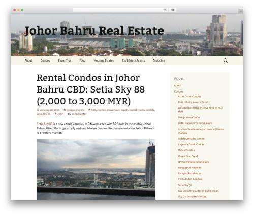 Twenty Thirteen premium WordPress theme - johor-bahru-real-estate.com