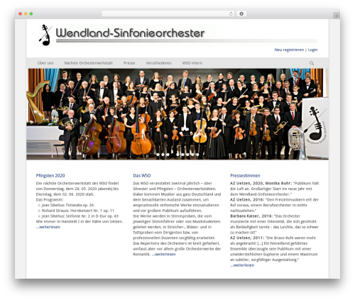 WordPress theme Catch Base Pro - wendlandsinfonieorchester.de