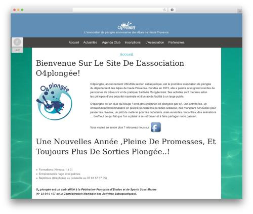 WordPress theme Osiris - o4plongee.fr