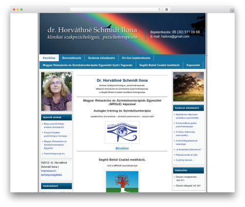 WordPress website template Celestial Aura - gyoripszichologus.hu
