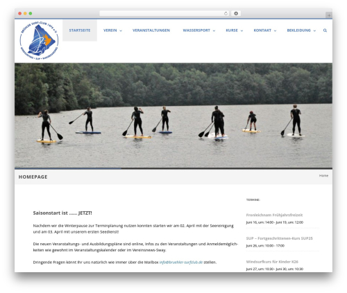 Agama Pro WordPress page template - bruehler-surfclub.de