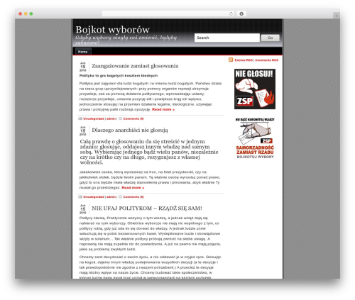 alibi theme WordPress - wybory.zsp.net.pl