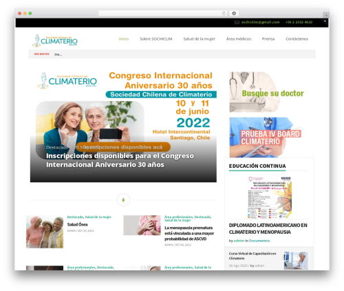 Blogit WordPress blog template - sociedadclimaterio.cl